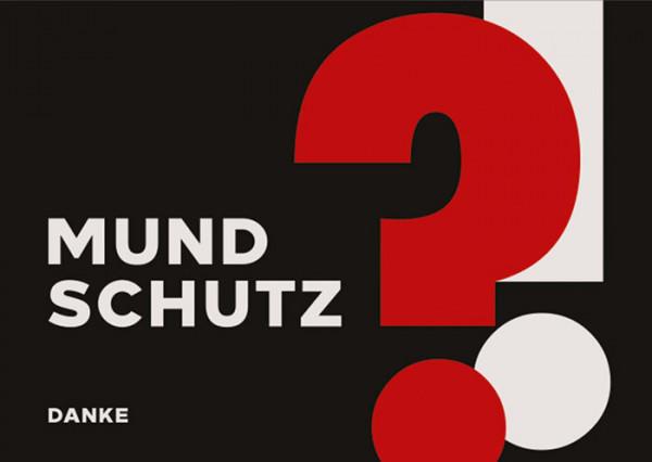 Schmutzfangmatte Mundschutz 60 x 90 x 0,6 cm schwarz/weiß/rot Design 9