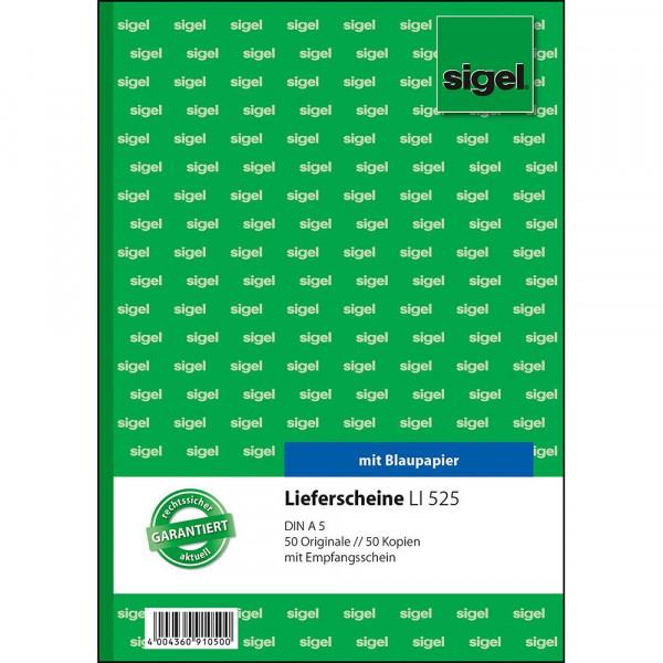 Hochwertiges Lieferscheinbuch von Sigel in verschiedenen Ausführungen 621303