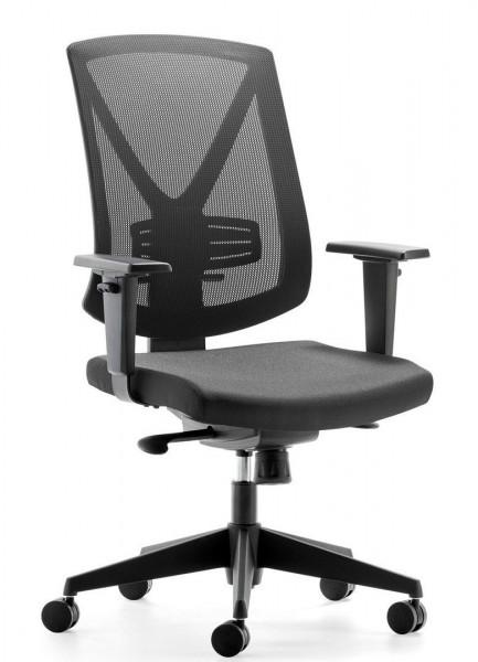 Hochwertiger schwarzer Bürostuhl mit Netzrücken 80807
