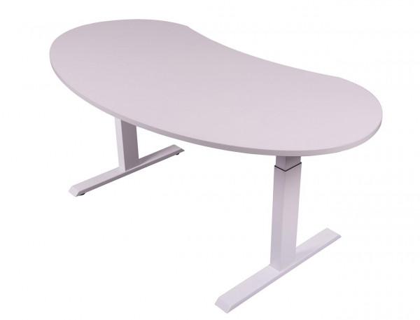 Höhenverstellbarer Schreibtisch in Nierenform N83652