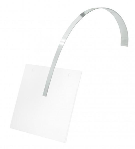 Selbstausrichtender PVC-Halter, 05 mm dick, 11/7 x 150 mm