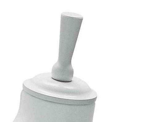 Hochwertiger, weißer Halsabschluss für Schneiderbüsten in Übergröße 11279