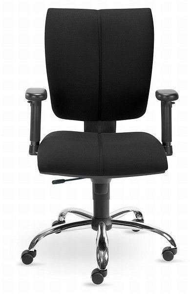 Schreibtischstuhl mit schwarzem Stoffbezug und Synchronmechanik 84102