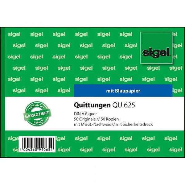 Hochwertiger Quittungsblock von Sigel im DIN A6 Format