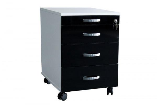 Qualitativ hochwertiger Rollcontainer in Lackoptik 73301-50