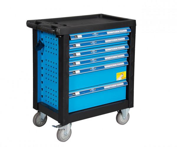 Blauer Werkzeugwagen mit 154 Teilen 27701