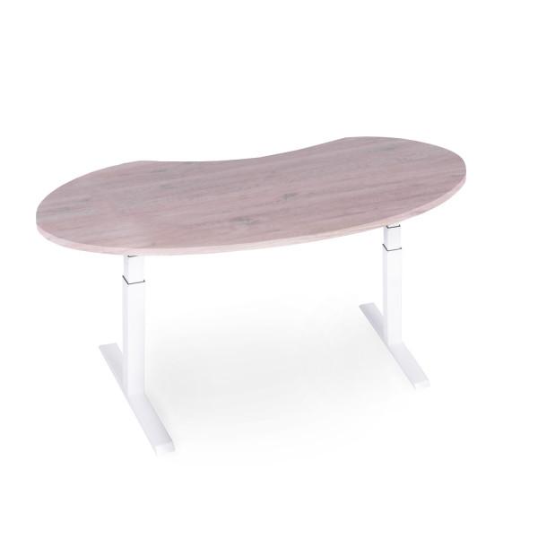 ergonomisch höhenverstellbarer Schreibtisch mit Nierenform N83652-60