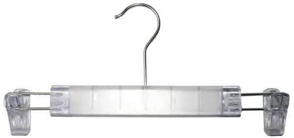 Transparenter Kunststoffbügel mit Klammern 12215
