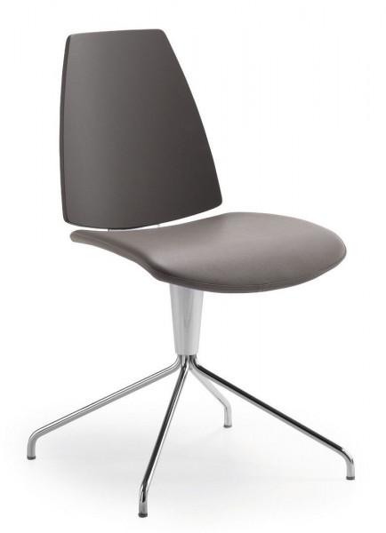 Stylischer Stuhl mit drehbarem Sterngestell und gepolsterter Rückenlehne 80810