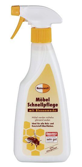 Hochwertige Möbel-Schnellpflege mit Bienenwachs in praktischer Sprühflasche 92063