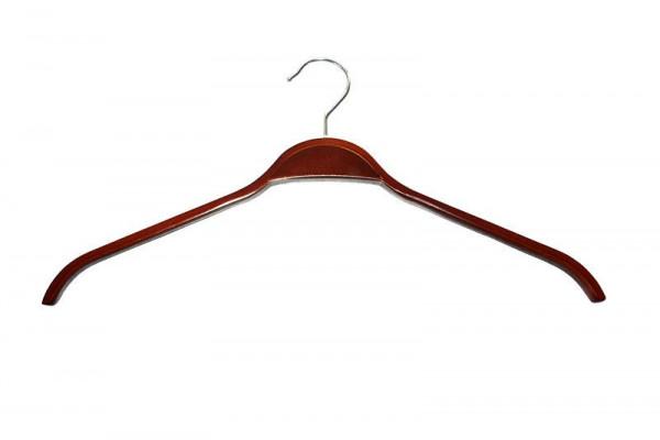 Dunkelbrauner Kleiderbügel ohne Steg 12014