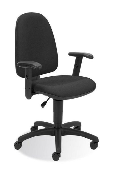 Bürostuhl mit schwarzem Stoffbezug in klassischem Design 84105