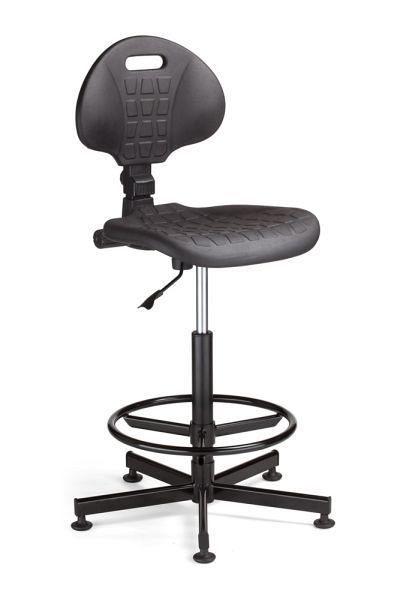 Arbeitsstuhl mit Sitzfläche aus Hartgummi 84501