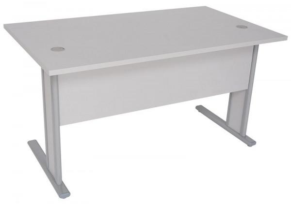 Hochwertiger, stabiler Schreibtisch mit Sichtschutz 83500