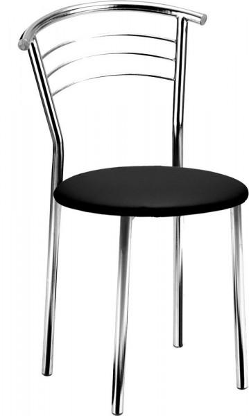 Bistrostuhl mit schwarzem Kunstledersitz 80560