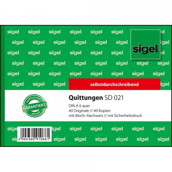 Hochwertiger Quittungsblock von Sigel im DIN A6 Format 617287
