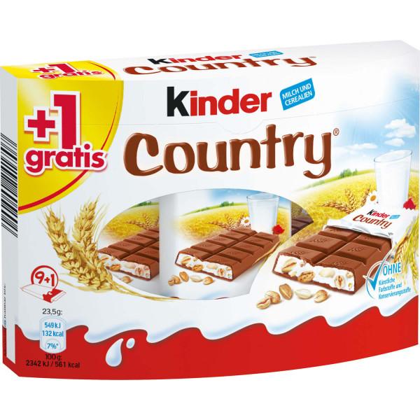 kinder Country 9er + 1 gratis