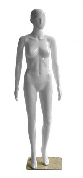 Weiße Schaufensterpuppe für Damenbekleidung - perfekt für Präsentationszwecke geeignet 11707