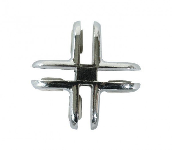 Glasverbinder aus Metall für Steckvitrinen 28552