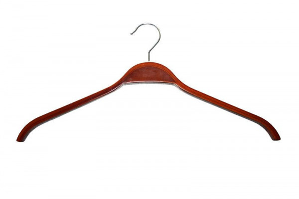 Brauner Kleiderbügel aus Schichtholz ohne Steg 12016