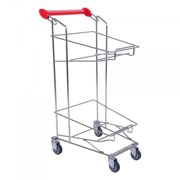 Einkaufswagen für 2 Einkaufskörbe