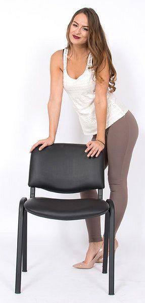 Stapelbarer Stuhl mit Kunstlederbezug 80043