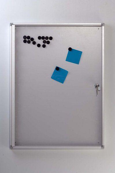 Magnetische Wandvitrine für den Aushang von Informationen und Ausstellungsstücken 65044