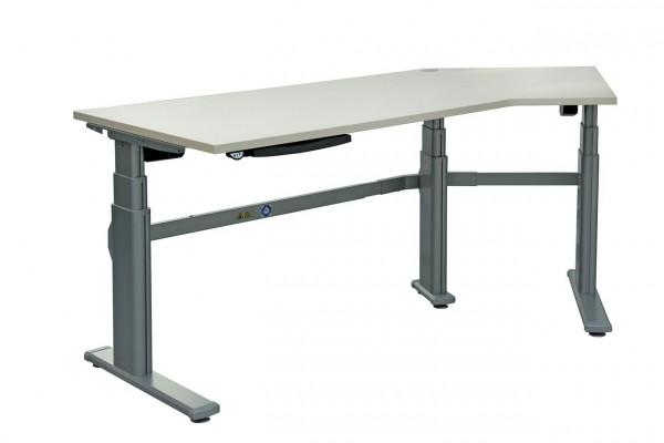 Praktischer Winkelschreibtisch mit Alu-Tischgestell N83613