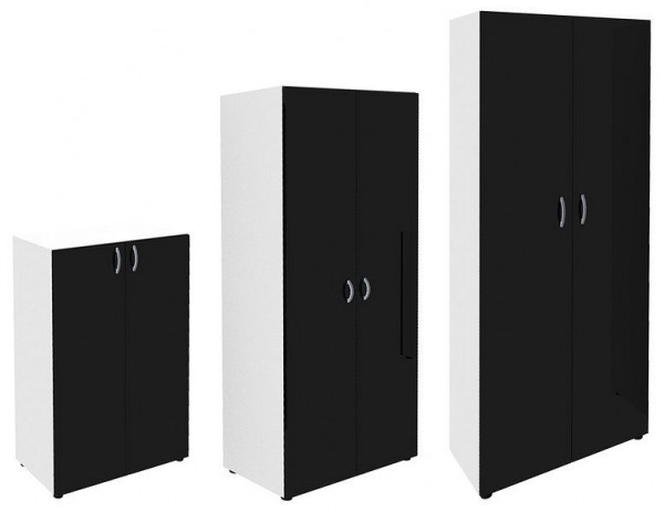 Aktenschrank in der Farbkombination Weiß/Anthrazit 73000