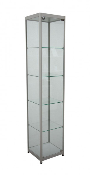 Säulenvitrine Exclusive, LED Beleuchtung, 40x40x198cm