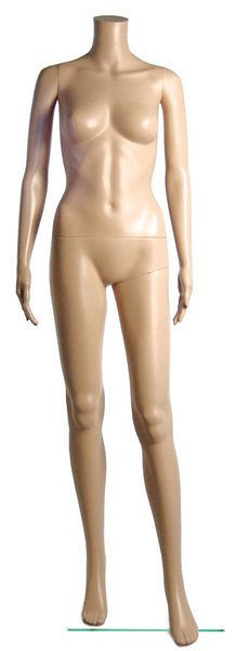 Formschöne, hochwertige Damenschaufensterpuppe ohne Kopf 11793