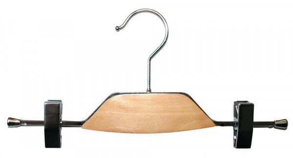Metallbügel mit Holzeinsatz und verschiebbaren Klammern 12108