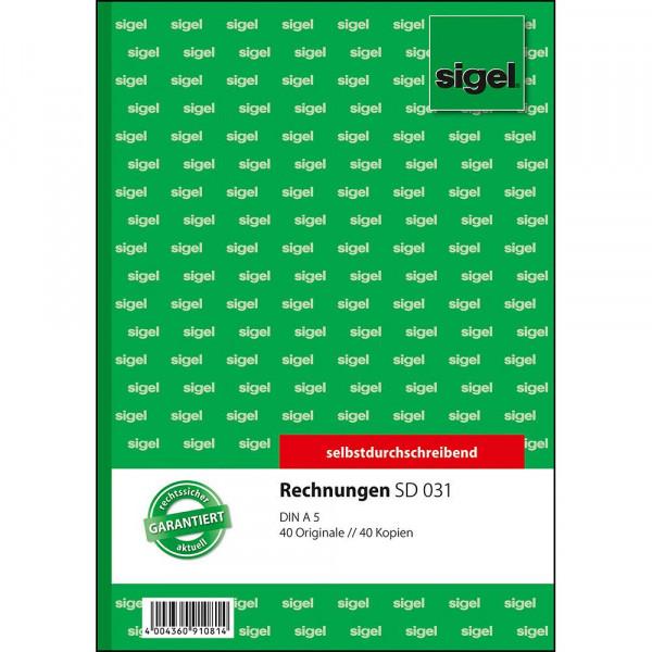 Hochwertiges Rechnungsbuch von Sigel in verschiedenen Ausführungen 627310