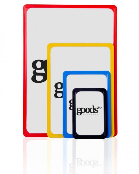 Kunststoffplakatrahmen verschiedene Farben und Größen DIN A6-A3