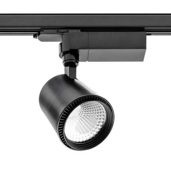 LED X-Line Strahler für 3-Phasen Stromschienen Schwarz 30 W