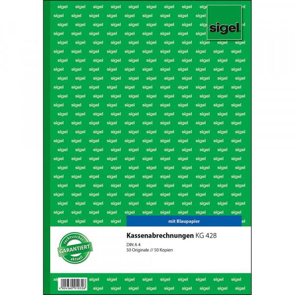 Hochwertiges Kassenberichtsbuch von Sigel 617269