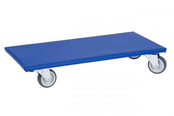 Möbelroller mit blauem Antirutschbelag 27600