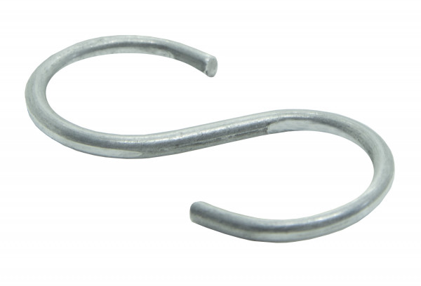 S-Haken, Metall, 40 x 17 x 1,5 mm