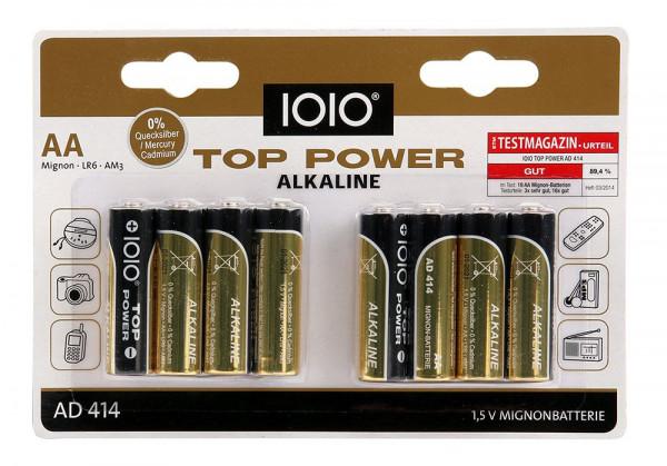 Acht Alkaline Mignon AA Batterien 40071