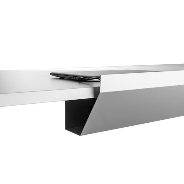 Kabelwanne Easy für Schreibtische - abklappbar - Breite 115 cm
