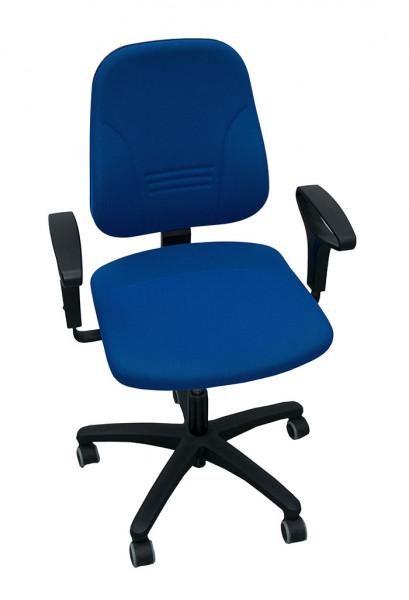 Prosedia Younico 1102 Bürodrehstuhl dunkelblau, inkl. Armlehnen, weiche Rollen