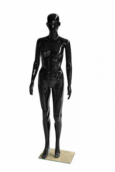 Schwarze Schaufensterpuppe für Damenmode 11706