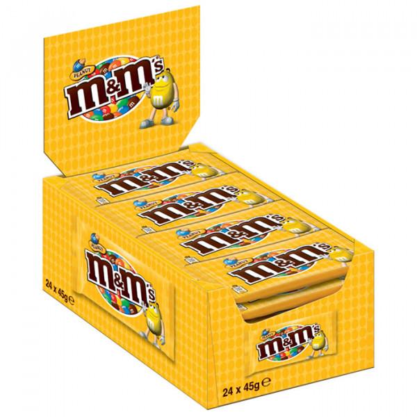 m&m Peanut 45g Packung, 24 Stück