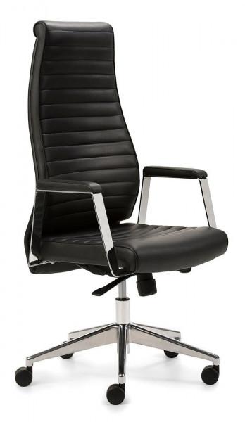 Hochwertiger Bürostuhl mit Echtleder-Polsterung 80809