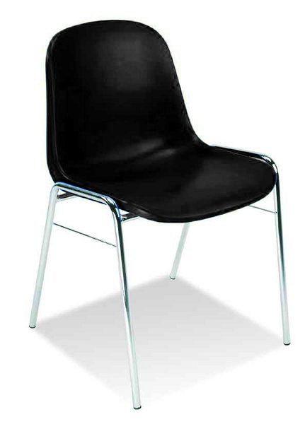 Stapelbarer Schalenstuhl aus Kunststoff in der Farbe Schwarz 84001