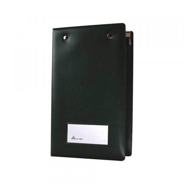 Aufklappbare Kassenblockhülle in der Farbe Schwarz 17700