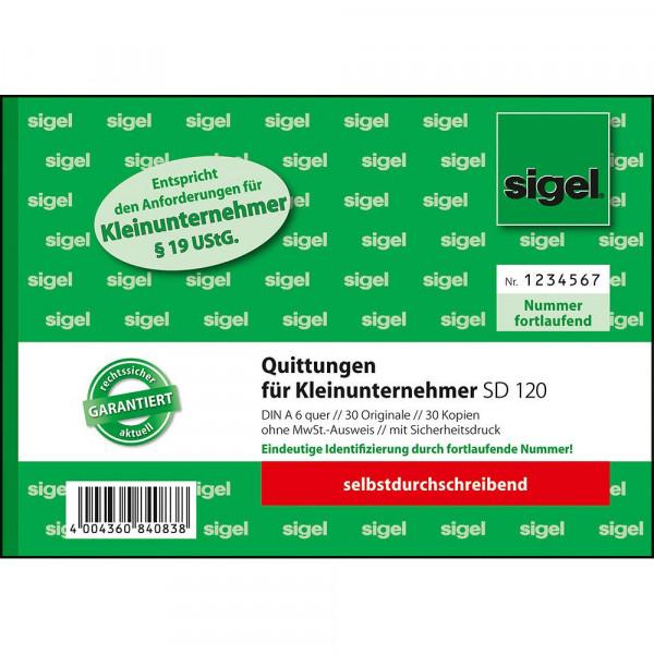 Hochwertiger Quittungsblock für Kleinunternehmer im DIN A6 Format 627187