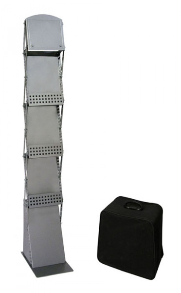 Prospektständer faltbar 3 x DIN-A4 inkl. Transporttasche