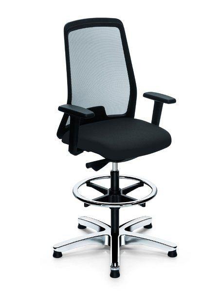 Hochwertiger Bürostuhl mit Netzrücken in der Farbe Schwarz 80084