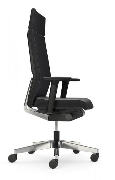 Bürostuhl mit hochwertigem Lederbezug 80058